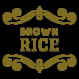 Etiqueta de remolinos de arroz integral