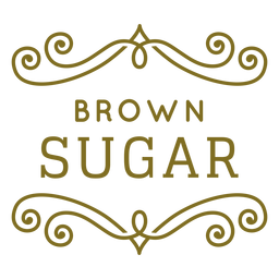 Brown sugar swirls label