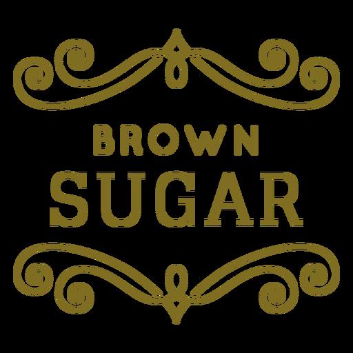 Brown sugar swirls label Transparent PNG