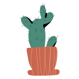 Cactus in pot illustration