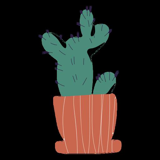 Cactus in pot illustration Transparent PNG