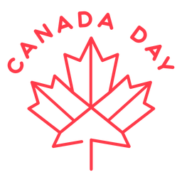 Canada day badge