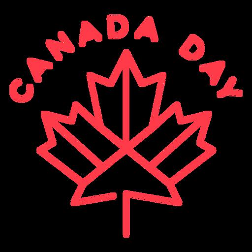 Insignia del día de Canadá