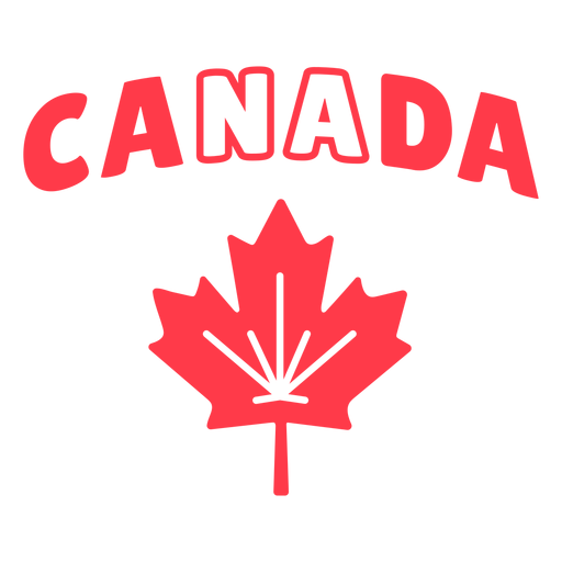 Canada sign with maple leaf badge