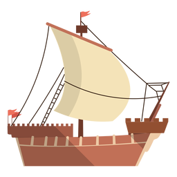 Caravel ship illustration