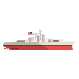 Ilustración de barco de carga