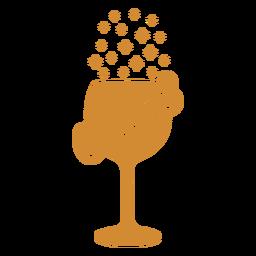Felicidades vinho rótulo