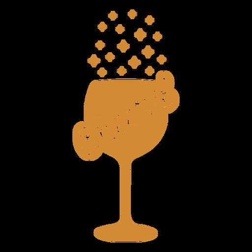 Saludos etiqueta de vino