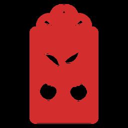 Cherry papercut tag
