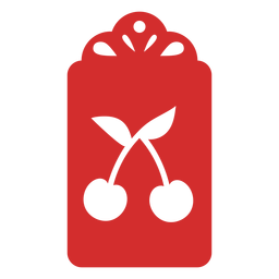 Etiqueta papercut cereja