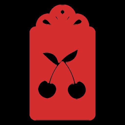 Cherry papercut tag Transparent PNG