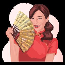 Carácter realista de mujer china