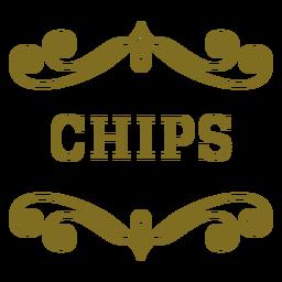 Etiqueta de remolinos de chips