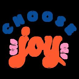 Elige letras de alegría