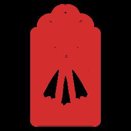Etiqueta de papercut de campanas de navidad