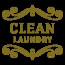 Etiqueta de remolinos de ropa limpia