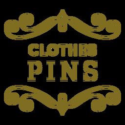 Etiqueta de redemoinhos de alfinetes de roupa