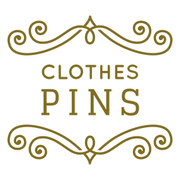 Etiqueta de remolinos de alfileres de ropa