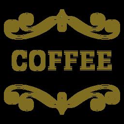 Rótulo de redemoinhos de café