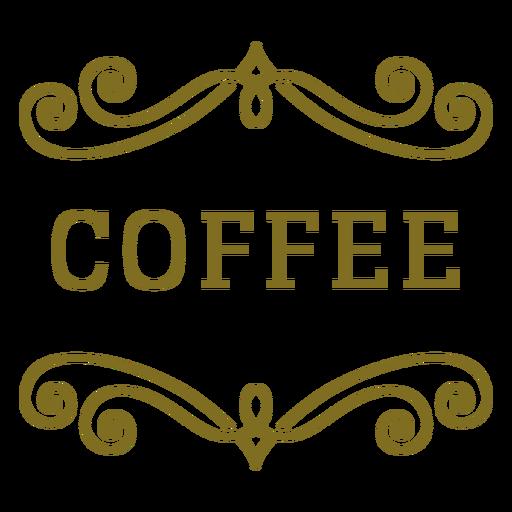 Etiqueta de remolinos de café