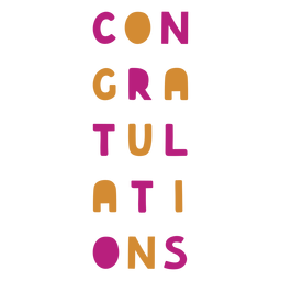 Colorful congratulations wine label