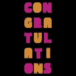 Etiqueta de vino felicitaciones coloridas