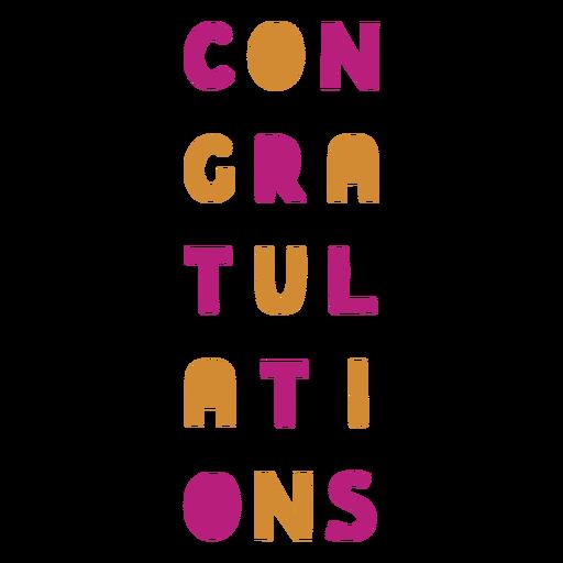 Etiqueta colorida felicitaciones vino