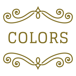 Colors swirls label