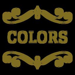 Etiqueta de remolinos de colores