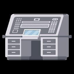 Ilustración de escritorio de consola de computadora
