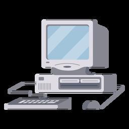 Ilustração de configuração do computador
