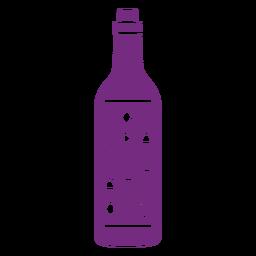 Felicidades etiqueta de vino