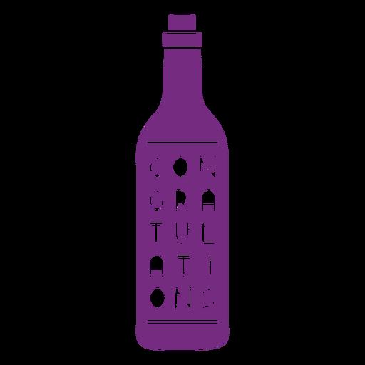 Congratulations wine label