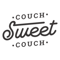 Couch sweet couch lettering