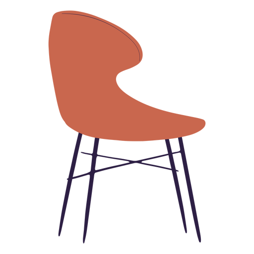 Ilustración de silla curva Transparent PNG