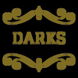 Etiqueta dos redemoinhos de Darks