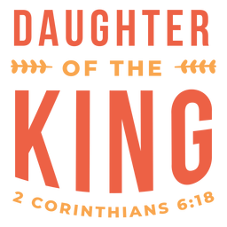 Daughter the king lettering