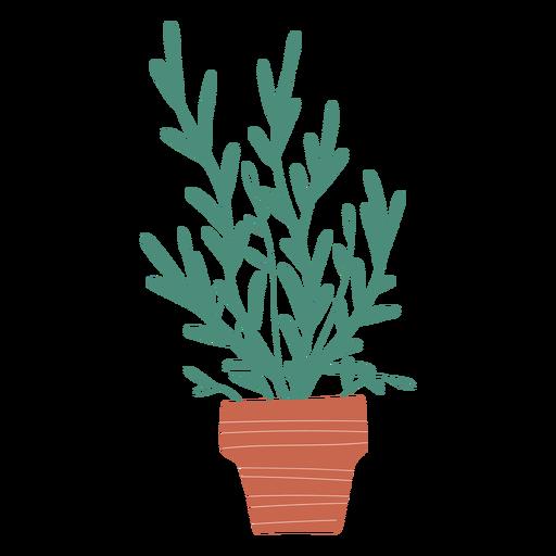 Decoration plant in pot illustration