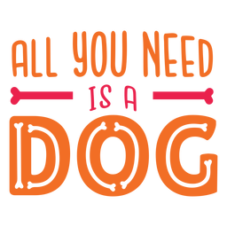 Dog love quote lettering