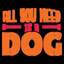 Letras de cita de amor de perro