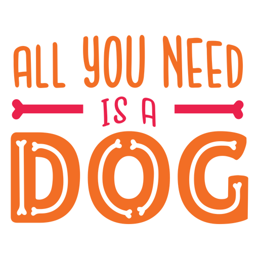 Dog love quote lettering Transparent PNG