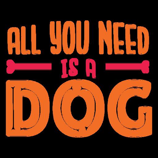 Hund Liebe Zitat Schriftzug