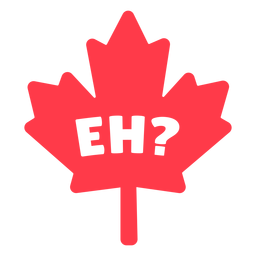 Eh in maple leaf flat