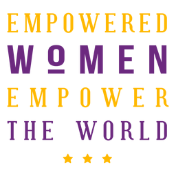 Empowered women lettering