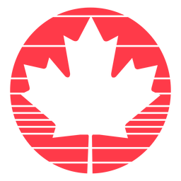 Encircled maple leaf flat