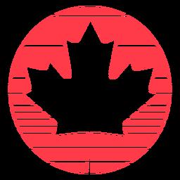 Encircled maple leaf flat