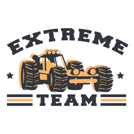 Extreme team lettering