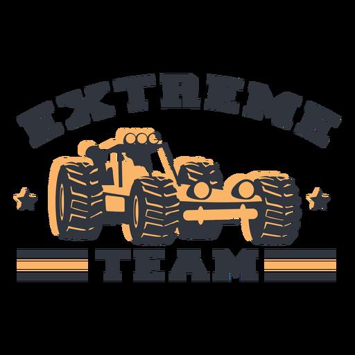Letras de equipo extremo
