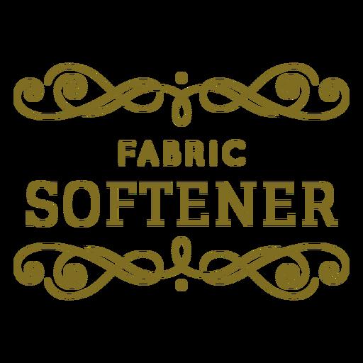 Fabric softener swirls label