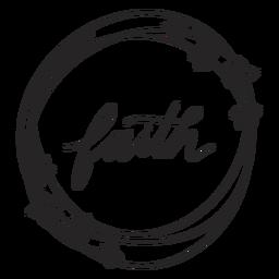 Faith floral lettering